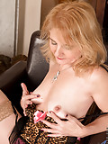 Lily Roma plays with her glistening snatch that is full of cum